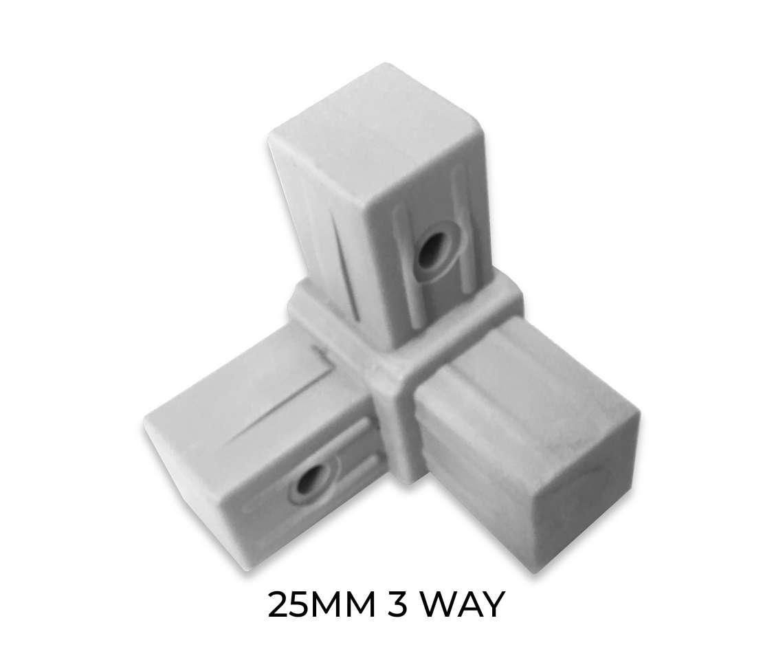 Modular shelving 3 way component