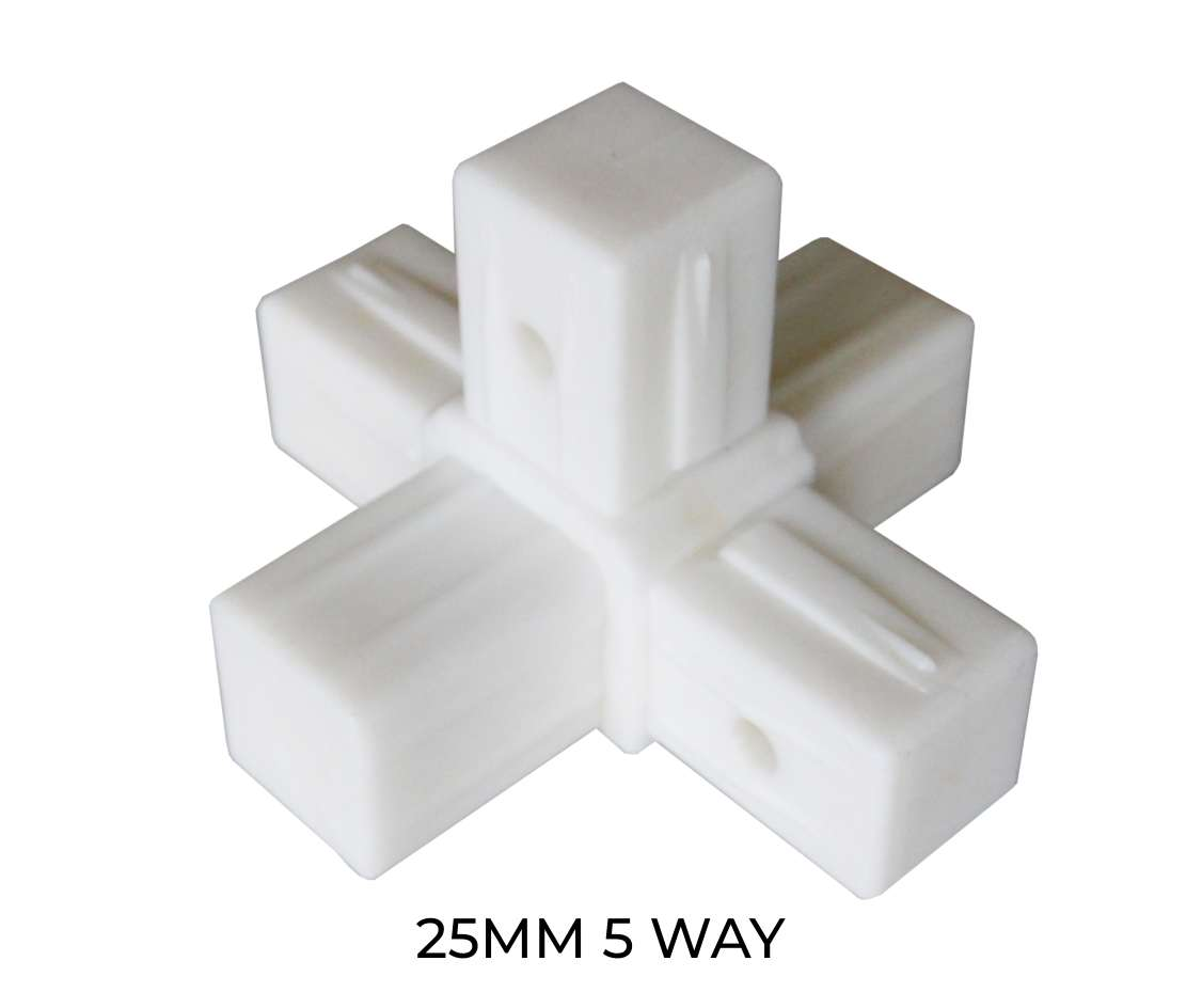 Modular shelving 5 way component