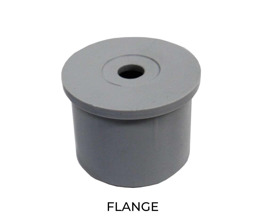 Modular shelving flange component